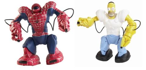 Robosapien Spiderman Homer